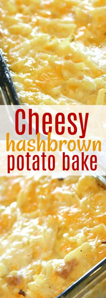 This potato casserole, cheesy, sour cream, soups and all is the BEST potato side dish for ham and side dish for pork chops there is! #side #sidedish #potatoes #hashbrowns #cheesypotatoes #cheesypotatoes