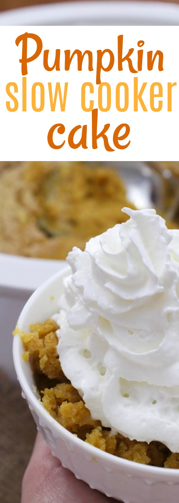 Enjoy this pumpkin dump cake recipe, crockpot as the star! #pumpkin #fall #everythingpumpkin #psl #dessert #slowcooker #slow #cooker #falldessert #hotdessert #crockpot #crockpot #dessert