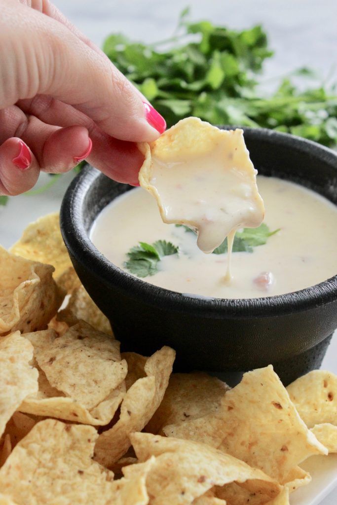 No velveeta cheese dip! The kids love this! #dip #appetizer #recipe #queso