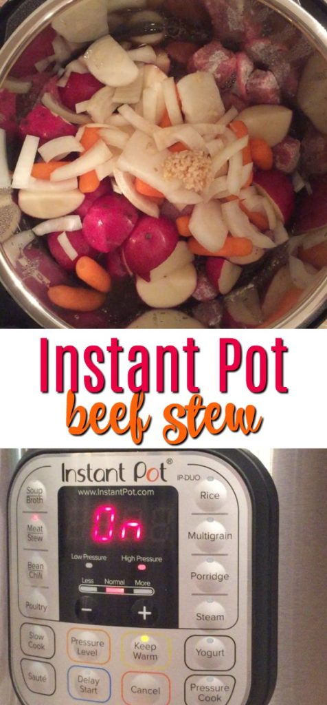 Looking for instant pot recipes? Beef stew should be the first dinner in the Instant Pot! After you do the water test, try this pressure cooker stew recipe - it's awesome! Instant Pot | Beef Instant Pot Dinner | Pressure Cooker Dinner | Instant Pot Dinner Ideas