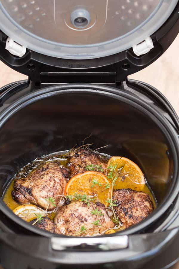 Slow Cooker Allspice, Orange and Lemon Chicken in the Crock Pot