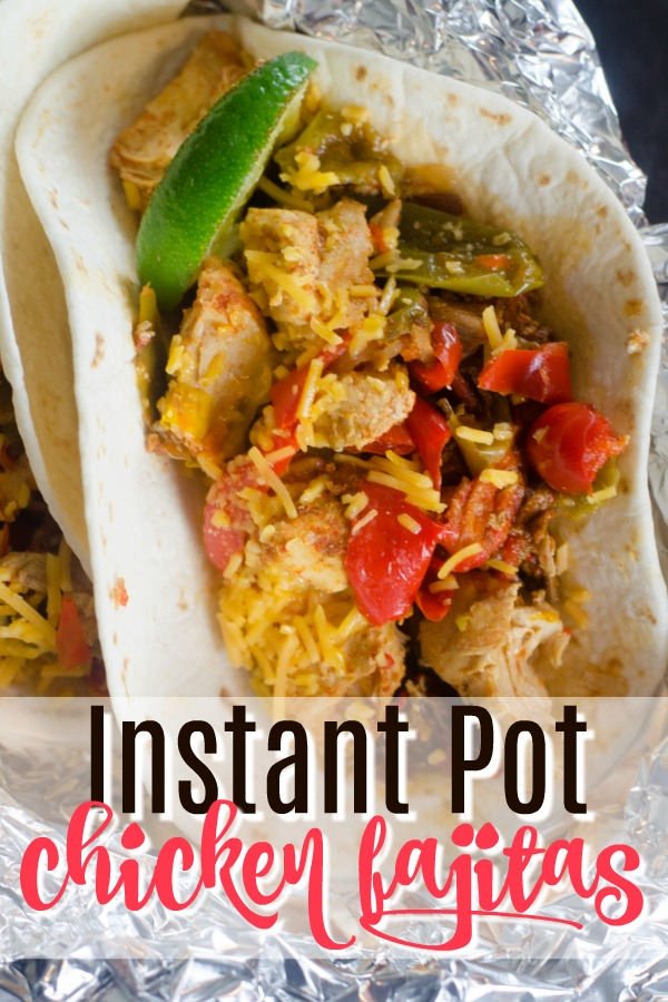 These Instant Pot chicken fajitas will knock your socks off! If you're hunting for easy instant pot chicken recipes, these are the ones to make. I needed more quick instant pot recipes, and this pressure cooker chicken recipe hit the spot! #instantpot #chicken #dinner