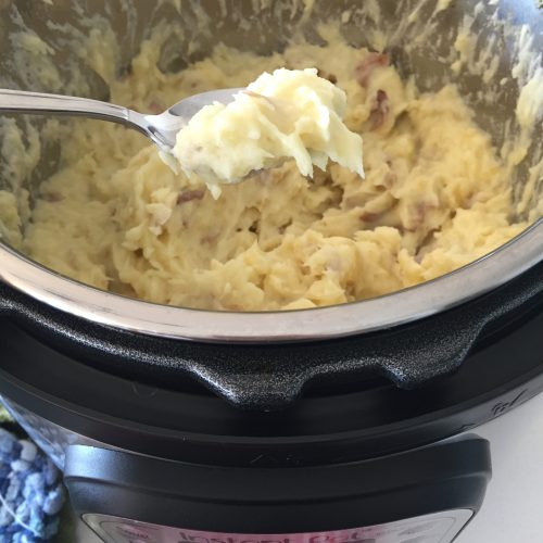 Potatoes in the Instant Pot smashed