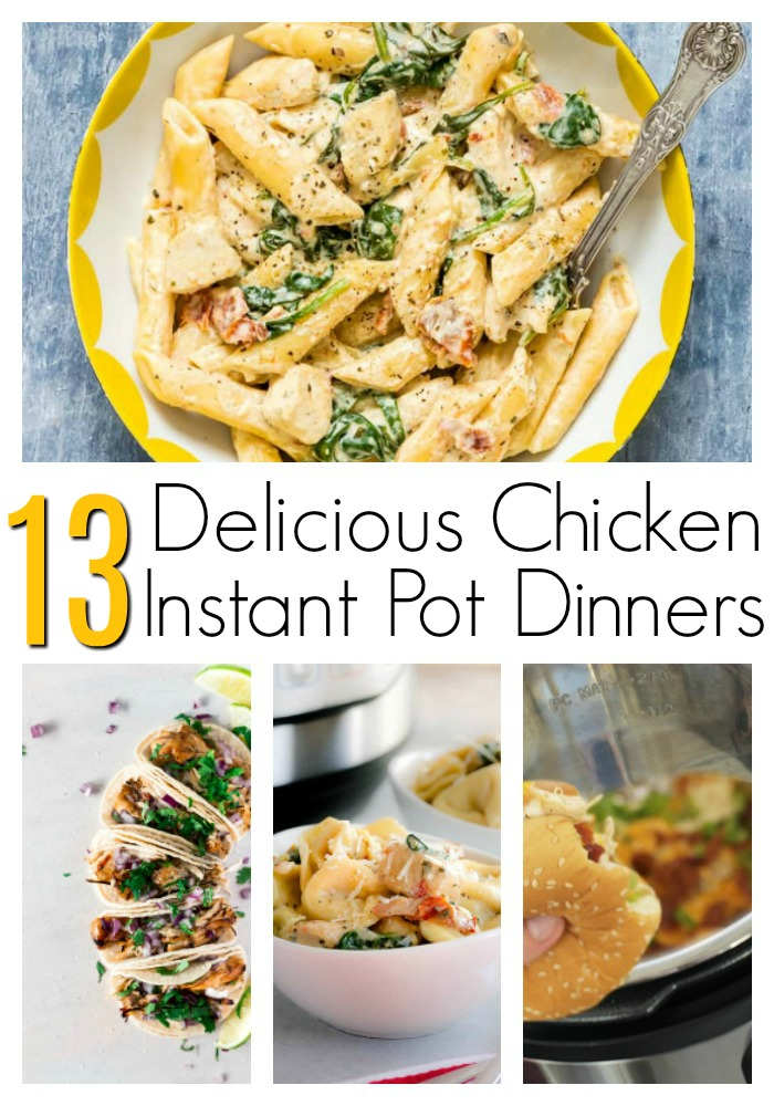 instant pot recipes chicken dinners ready to eat
