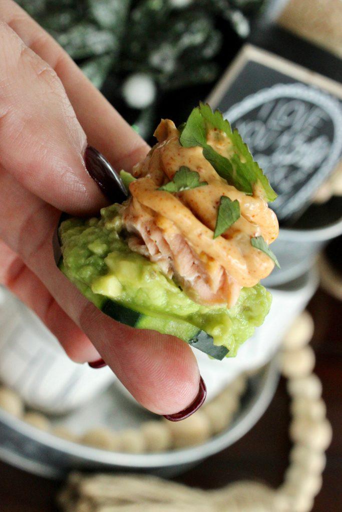 Avocado keto appetizer full of healthy fats!