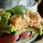 A bite out of the Keto Salmon and avocado bites