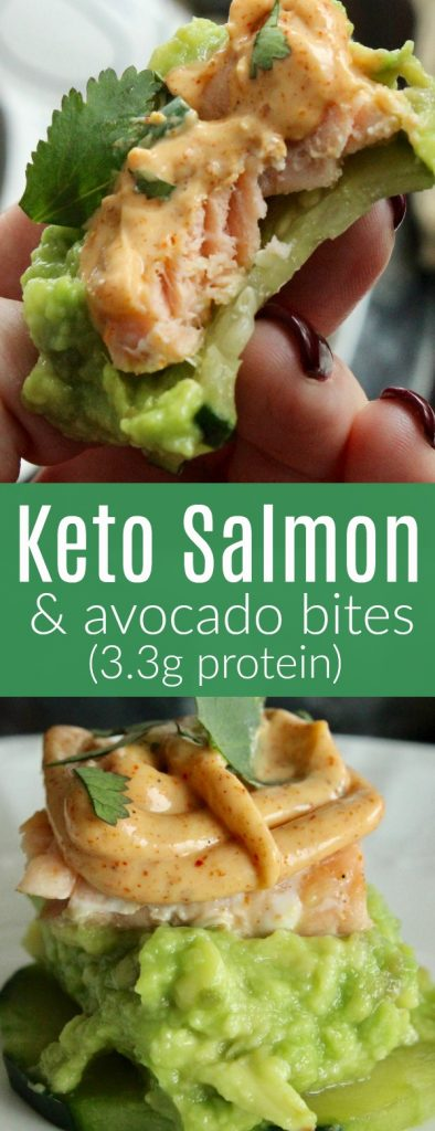 Taking a bite out of the keto avocado and salmon low carb appetizer