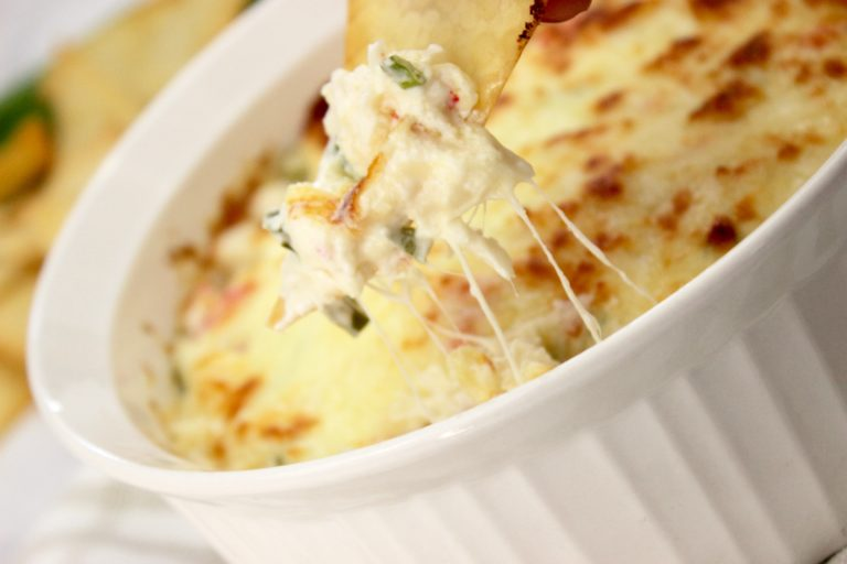 Crab dip for chips, dipping my wonton chip into this crab dip with cream cheese