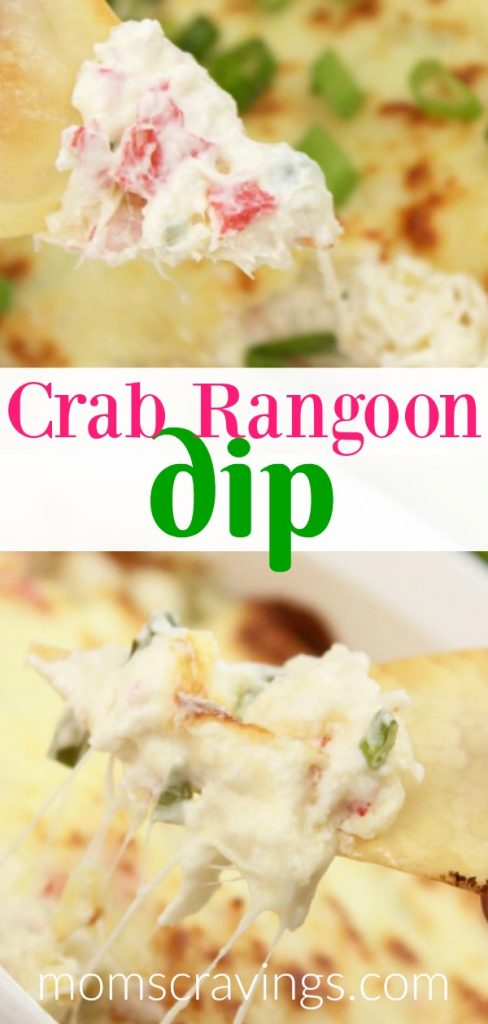 My pin for this hot carb rangoon dip recipe