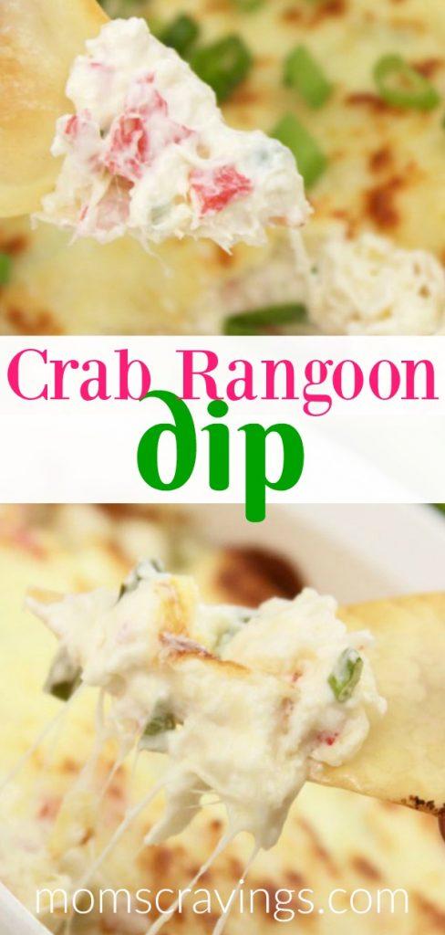 My pin for this hot carb rangoon dip recipe