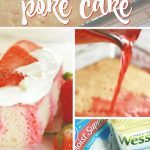 Strawberry poke cake is the perfect easy dessert idea if you need an easy cake recipe! Poke cakes are the best because they are so flavorful! #cake #pokecake #dessert