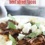 beef street tacos crockpot style