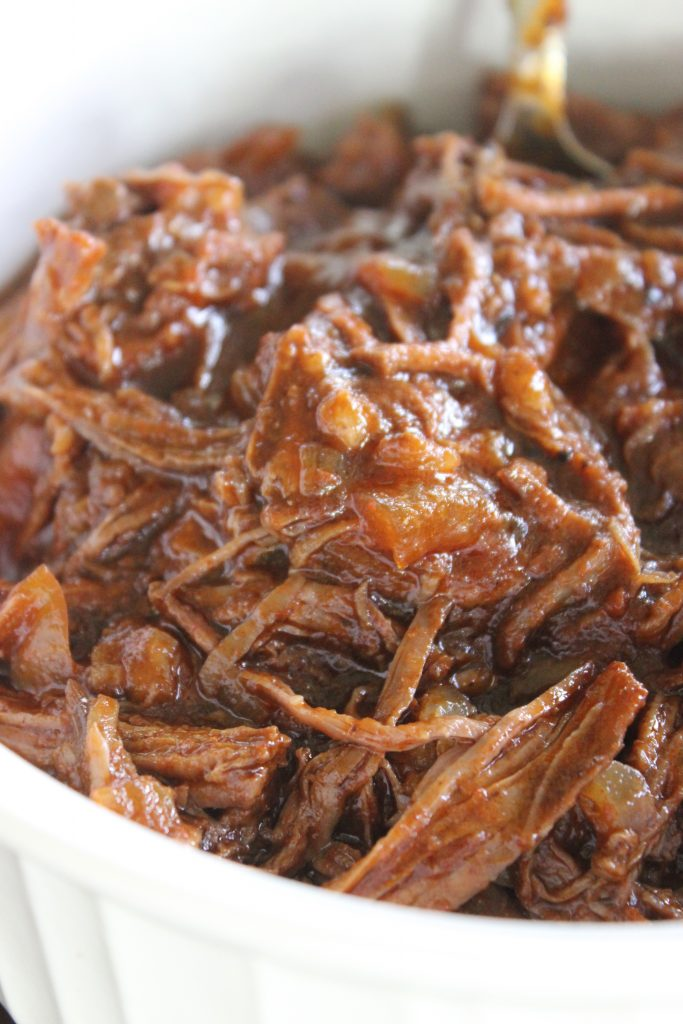 Slow cooker shredded beef tacos are the perfect meal for a weeknight!