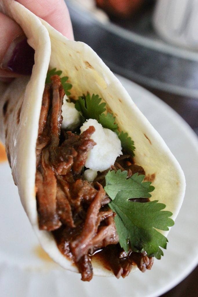 These slow cooker street tacos are one of my favorite meals!