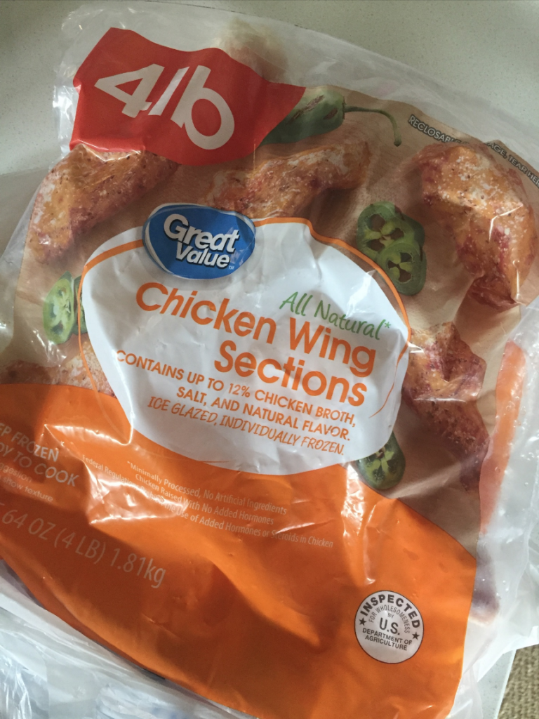 chicken wings in the bag