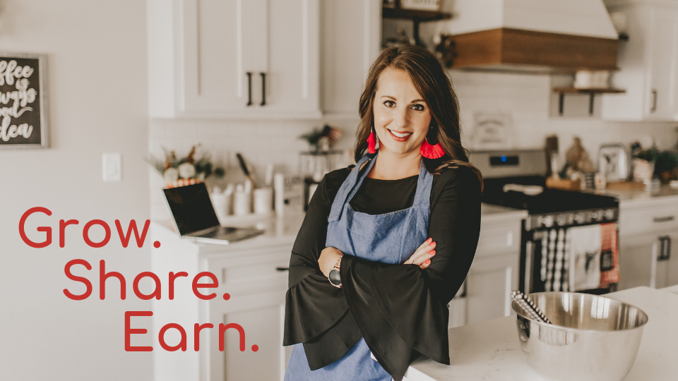 Grow. Share. Earn. - How to Start a Profitable Recipe Blog in 6 Weeks or Less
