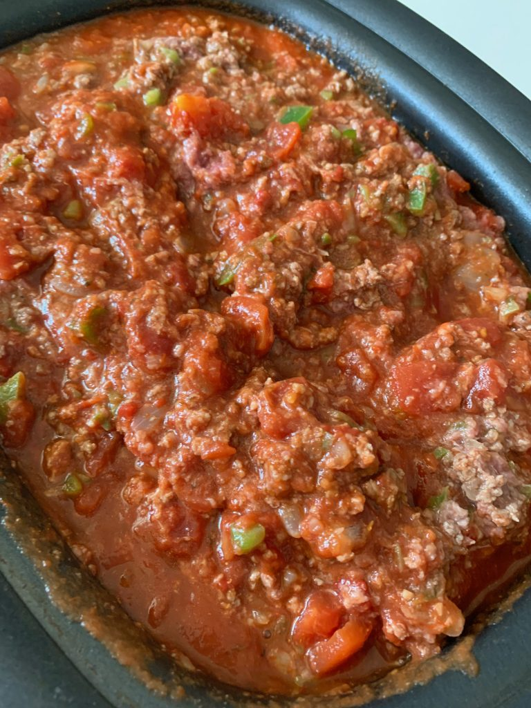 Making slow cooker goulash sauce for Crock Pot goulash