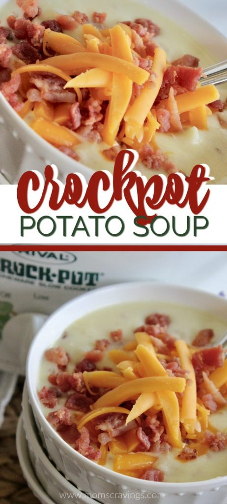 Crockpot Potato Soup for people looking for an easy crockpot potato soup with hash browns!