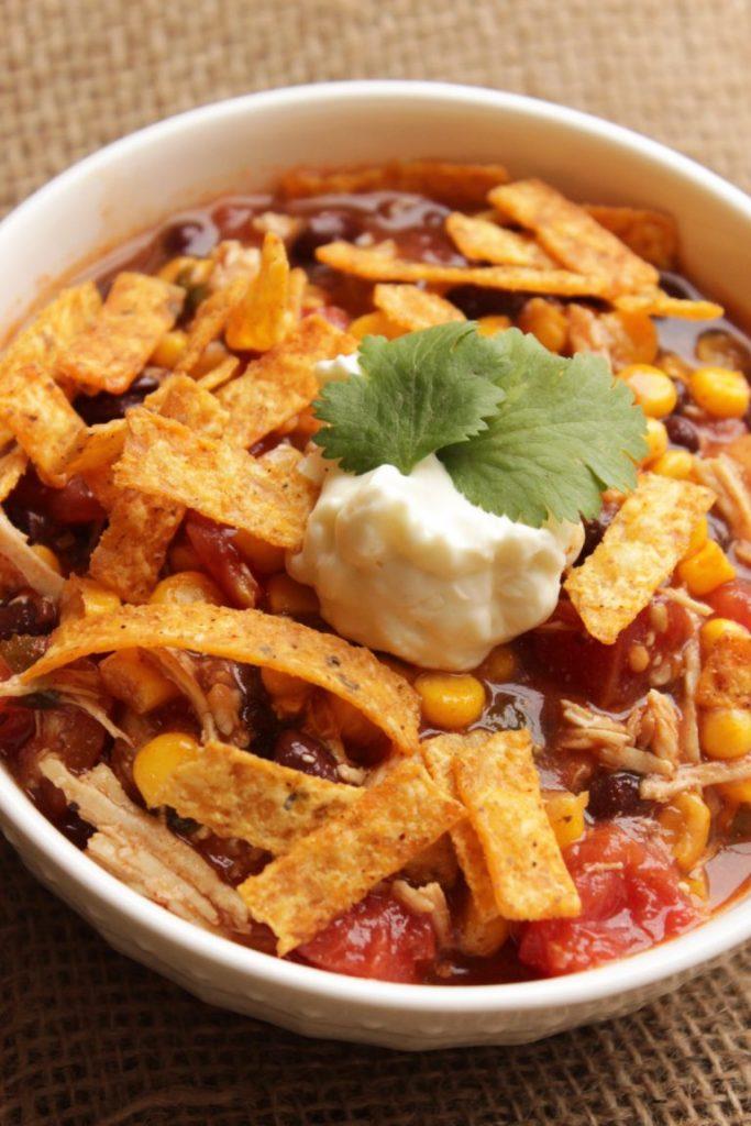 easy chicken enchilada soup