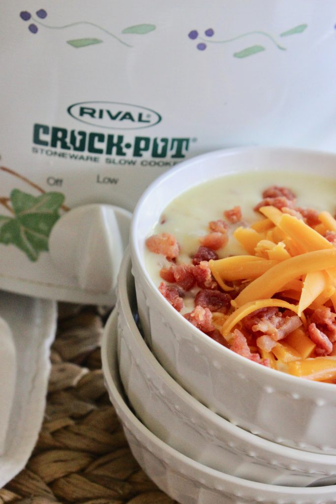 hashbrowns are the main ingredient in this Crock Pot potato soup