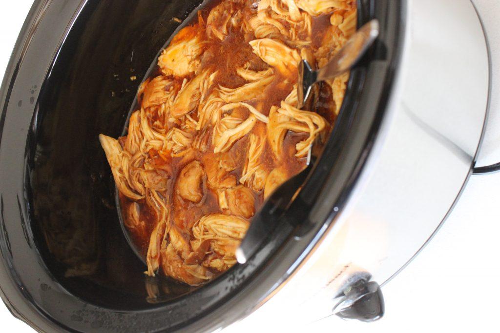shredding chicken in the Crock Pot