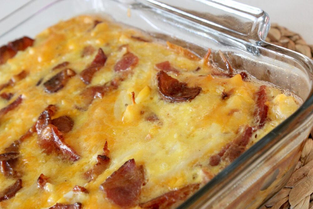 this bacon and egg casserole is awesome!