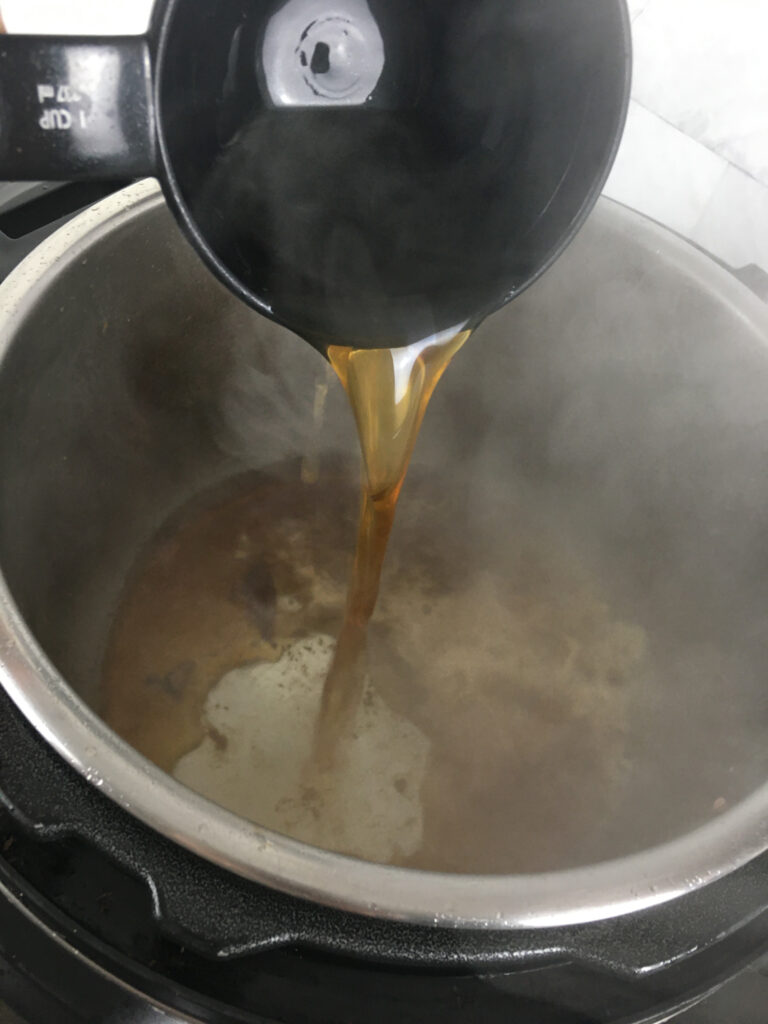 deglazing the Instant Pot
