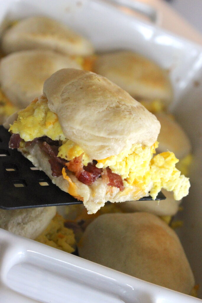 Bacon Egg and Cheese Biscuit Bake