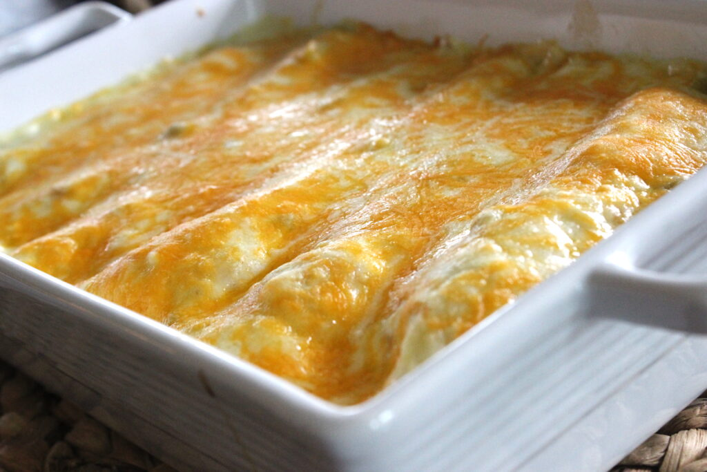 chicken enchiladas with cheese