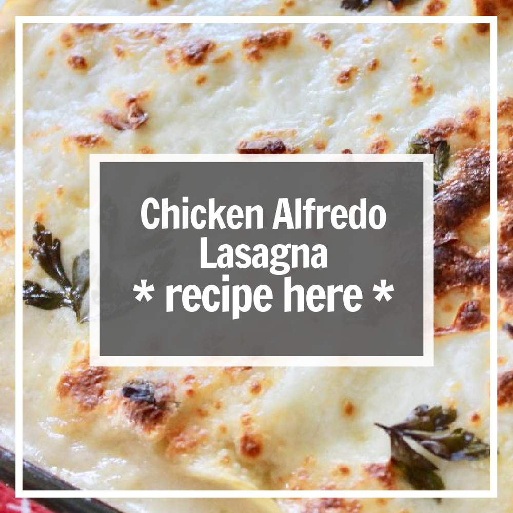 lasagna with chicken and alfredo sauce