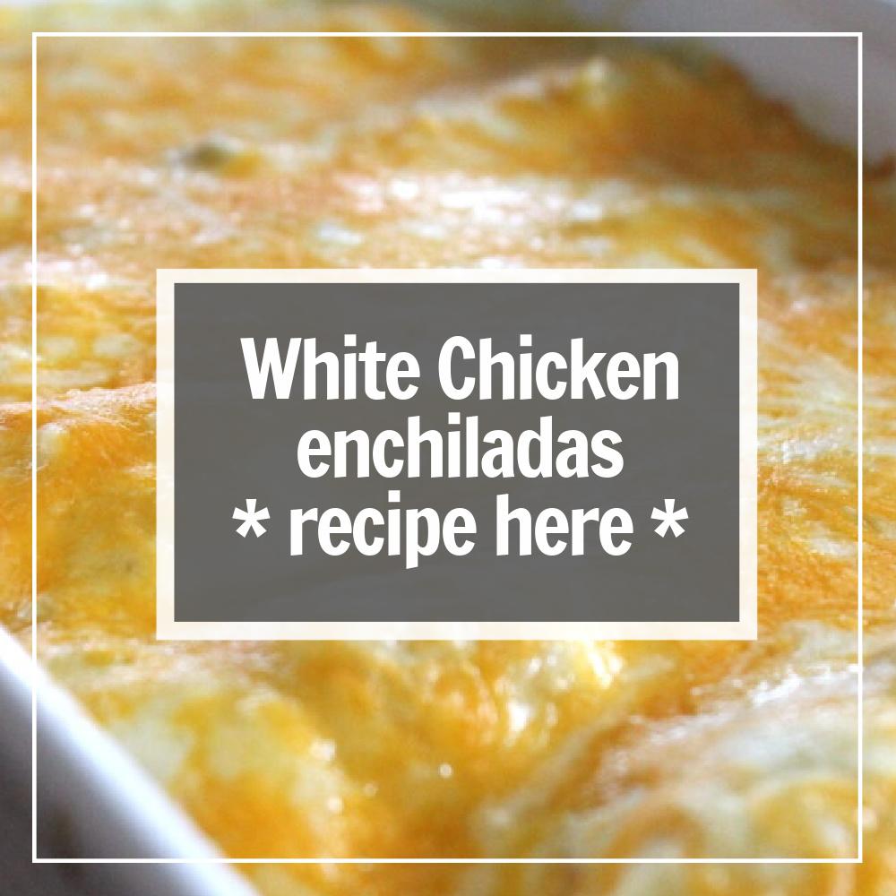 white chicken enchiladas with white sauce recipe here