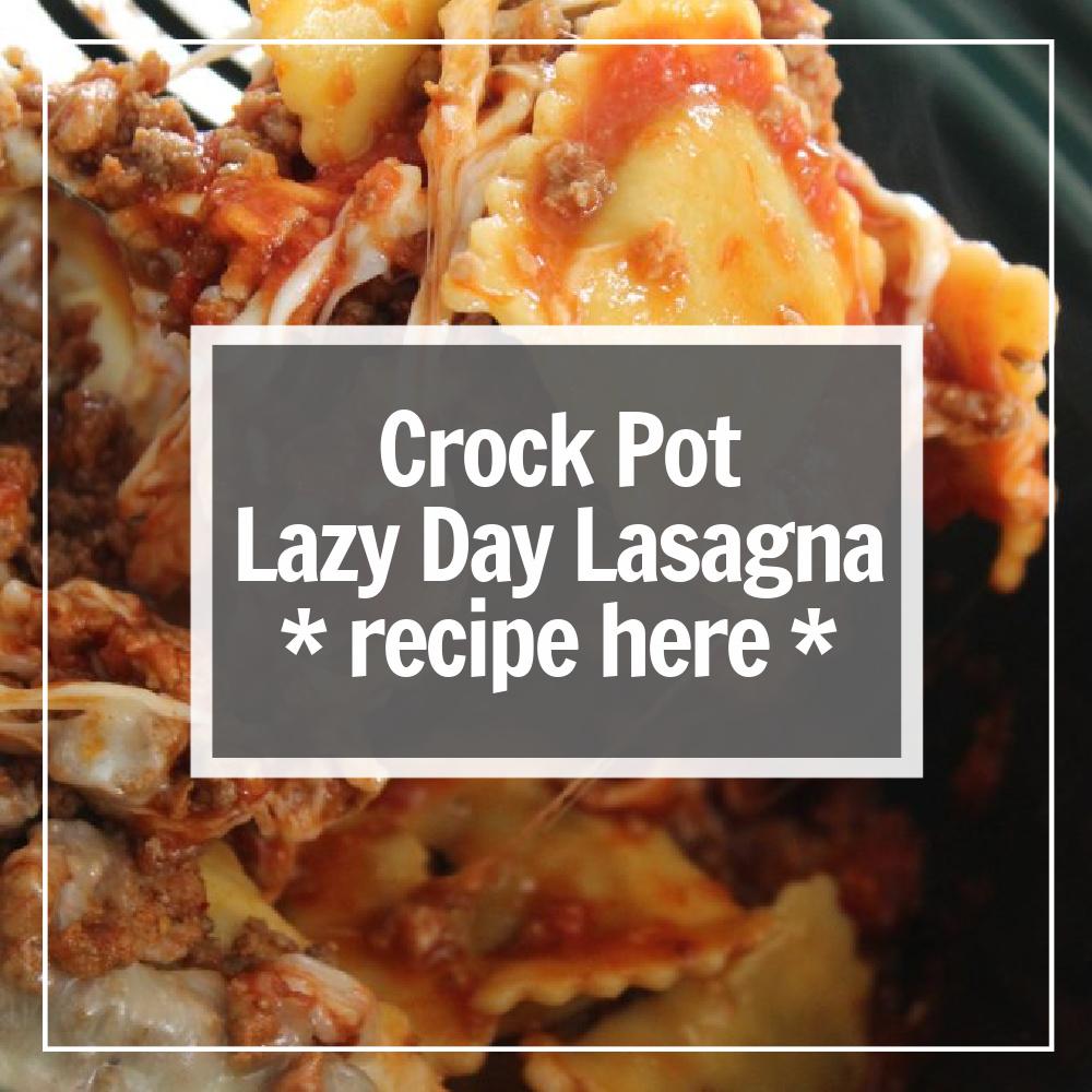 lazy lasagna in the crock pot