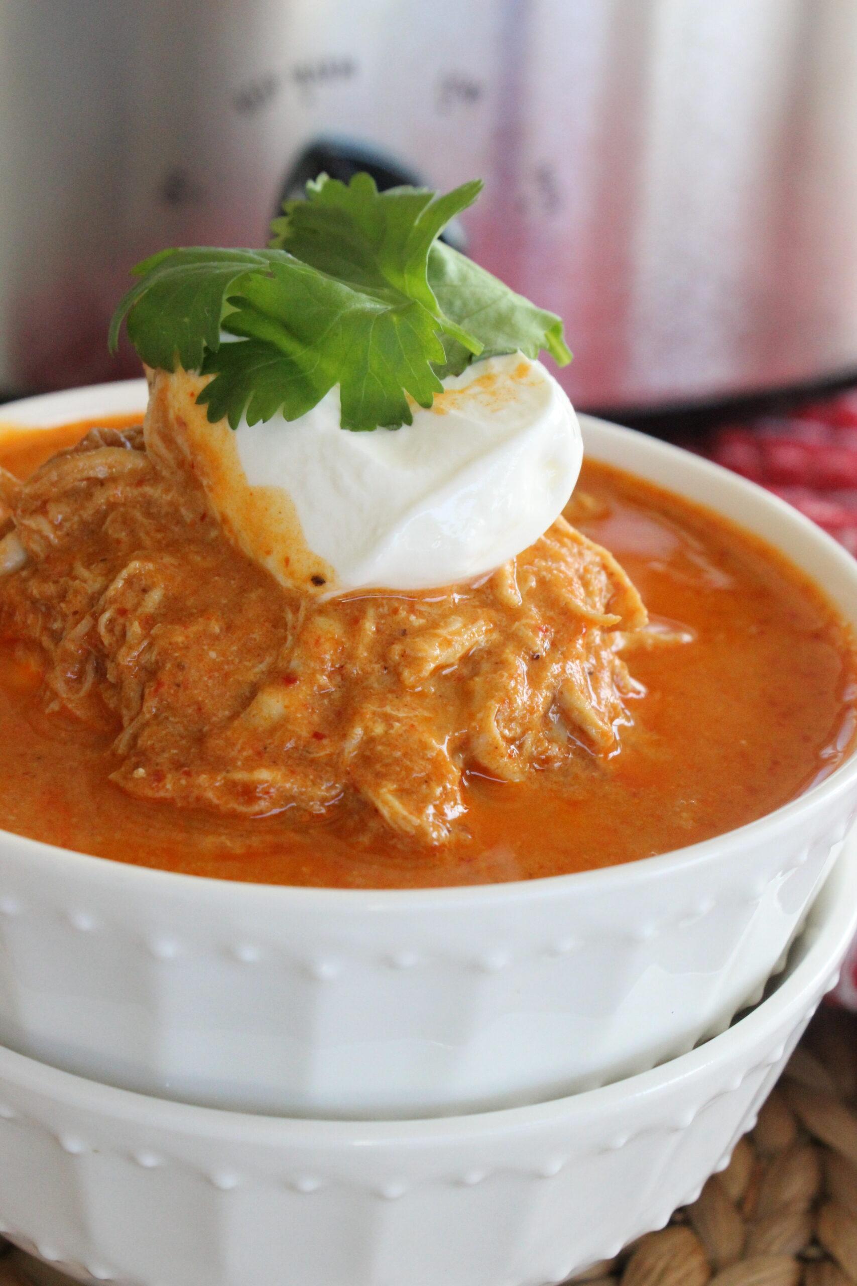 creamy chicken enchilada soup without garnish