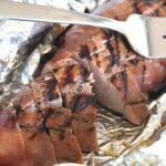 grilled pork tenderloin on foil