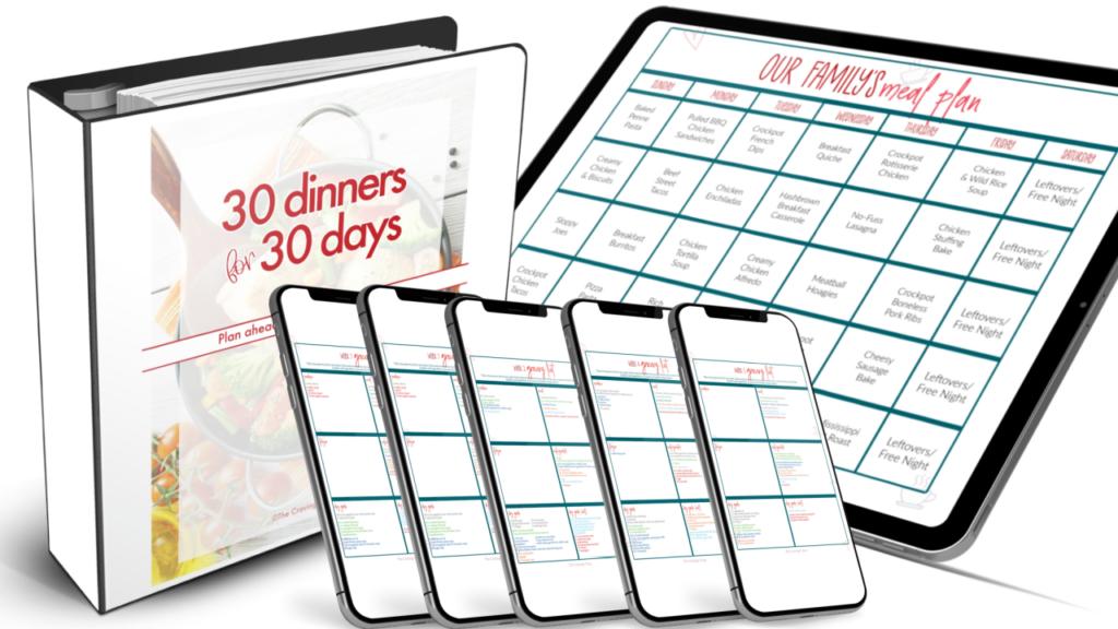 30 Dinner for 30 Days Meal Plan